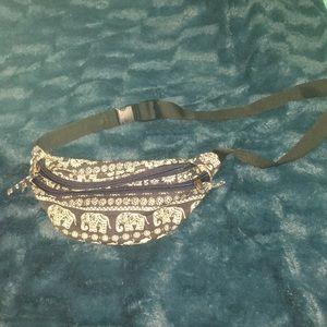 Bags - Dark blue elephant fanny pack